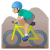 🚵🏼♂️ man mountain biking: medium-light skin tone Emoji on Google Platform