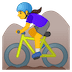 🚵‍♀️ woman mountain biking Emoji on Google Platform