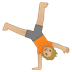 🤸🏼 person cartwheeling: medium-light skin tone Emoji on Google Platform