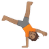 🤸🏽 person cartwheeling: medium skin tone Emoji on Google Platform