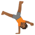 🤸🏾 person cartwheeling: medium-dark skin tone Emoji on Google Platform