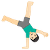 🤸🏻♂️ man cartwheeling: light skin tone Emoji on Google Platform
