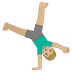 🤸🏼‍♂️ man cartwheeling: medium-light skin tone Emoji on Google Platform