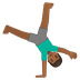🤸🏾‍♂️ Medium Dark Skin Tone Man Cartwheeling Emoji on Google Platform