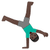 🤸🏿‍♂️ Dark Skin Tone Man Cartwheeling Emoji on Google Platform