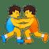 🤼 people wrestling Emoji on Google Platform
