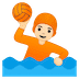 🤽🏻 person playing water polo: light skin tone Emoji on Google Platform
