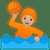 🤽🏼 person playing water polo: medium-light skin tone Emoji on Google Platform