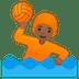 🤽🏾 person playing water polo: medium-dark skin tone Emoji on Google Platform