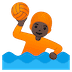 🤽🏿 person playing water polo: dark skin tone Emoji on Google Platform