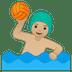 🤽🏼♂️ man playing water polo: medium-light skin tone Emoji on Google Platform