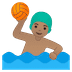 🤽🏽‍♂️ man playing water polo: medium skin tone Emoji on Google Platform