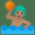 🤽🏽♂️ man playing water polo: medium skin tone Emoji on Google Platform