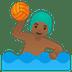 🤽🏾♂️ man playing water polo: medium-dark skin tone Emoji on Google Platform