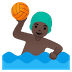 🤽🏿‍♂️ man playing water polo: dark skin tone Emoji on Google Platform