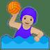 🤽🏼♀️ woman playing water polo: medium-light skin tone Emoji on Google Platform