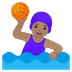 🤽🏽♀️ Medium Skin Tone Woman Playing Water Polo Emoji on Google Platform