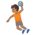 🤾🏽 person playing handball: medium skin tone Emoji on Google Platform