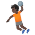 🤾🏿 person playing handball: dark skin tone Emoji on Google Platform