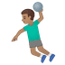 🤾🏽‍♂️ man playing handball: medium skin tone Emoji on Google Platform