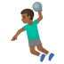 🤾🏾‍♂️ man playing handball: medium-dark skin tone Emoji on Google Platform