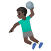 🤾🏿♂️ man playing handball: dark skin tone Emoji on Google Platform