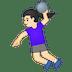 🤾🏻♀️ woman playing handball: light skin tone Emoji on Google Platform