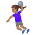 🤾🏽‍♀️ woman playing handball: medium skin tone Emoji on Google Platform