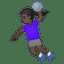🤾🏿♀️ woman playing handball: dark skin tone Emoji on Google Platform