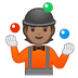 🤹🏽 person juggling: medium skin tone Emoji on Google Platform