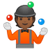 🤹🏾 person juggling: medium-dark skin tone Emoji on Google Platform