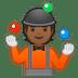 🤹🏾 Medium Dark Skin Tone Person Juggling Emoji on Google Platform