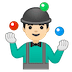 🤹🏻‍♂️ man juggling: light skin tone Emoji on Google Platform