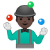 🤹🏿‍♂️ man juggling: dark skin tone Emoji on Google Platform
