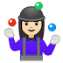 🤹🏻‍♀️ woman juggling: light skin tone Emoji on Google Platform