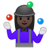 🤹🏿‍♀️ woman juggling: dark skin tone Emoji on Google Platform