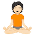 🧘🏻 person in lotus position: light skin tone Emoji on Google Platform