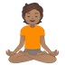 🧘🏽 person in lotus position: medium skin tone Emoji on Google Platform