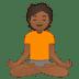 🧘🏾 person in lotus position: medium-dark skin tone Emoji on Google Platform