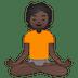 🧘🏿 person in lotus position: dark skin tone Emoji on Google Platform