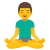 🧘‍♂️ man in lotus position Emoji on Google Platform