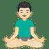 🧘🏻♂️ man in lotus position: light skin tone Emoji on Google Platform