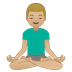 🧘🏼‍♂️ Medium Light Skin Tone Man In Lotus Position Emoji on Google Platform