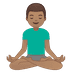 🧘🏽‍♂️ Medium Skin Tone Man In Lotus Position Emoji on Google Platform