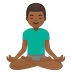 🧘🏾‍♂️ man in lotus position: medium-dark skin tone Emoji on Google Platform