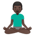 🧘🏿‍♂️ man in lotus position: dark skin tone Emoji on Google Platform
