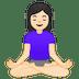 🧘🏻♀️ woman in lotus position: light skin tone Emoji on Google Platform
