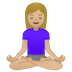 🧘🏼‍♀️ woman in lotus position: medium-light skin tone Emoji on Google Platform