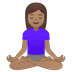 🧘🏽‍♀️ woman in lotus position: medium skin tone Emoji on Google Platform