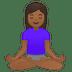 🧘🏾♀️ woman in lotus position: medium-dark skin tone Emoji on Google Platform